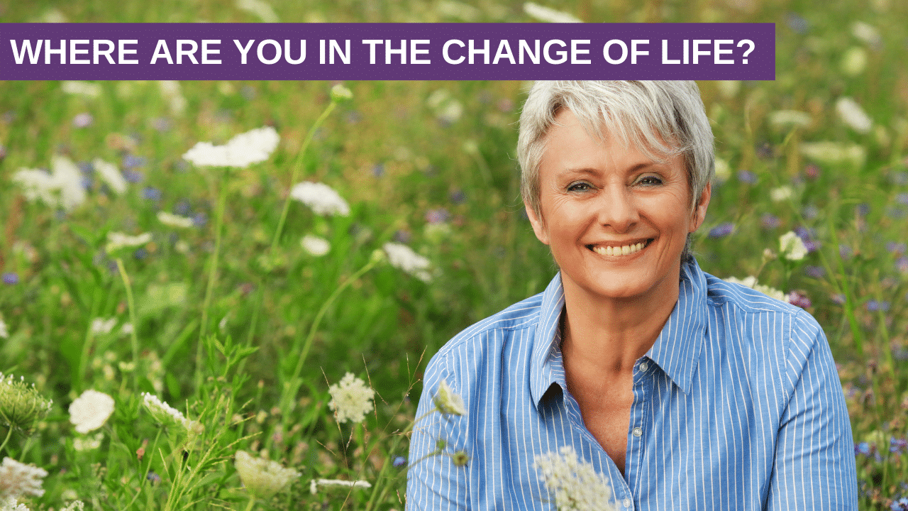 Where are you in the change of life? Perimenopausal, Menopausal or Postmenopausal?
