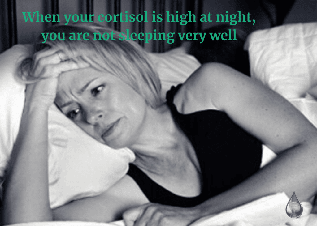 High cortisol at night