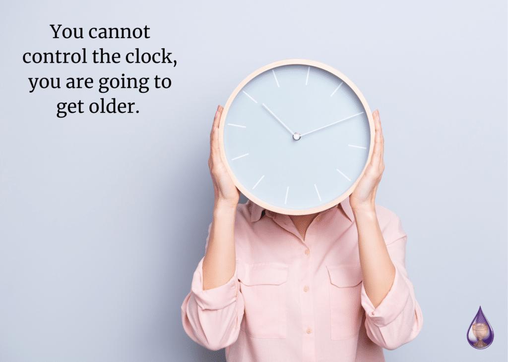 woman getting older
