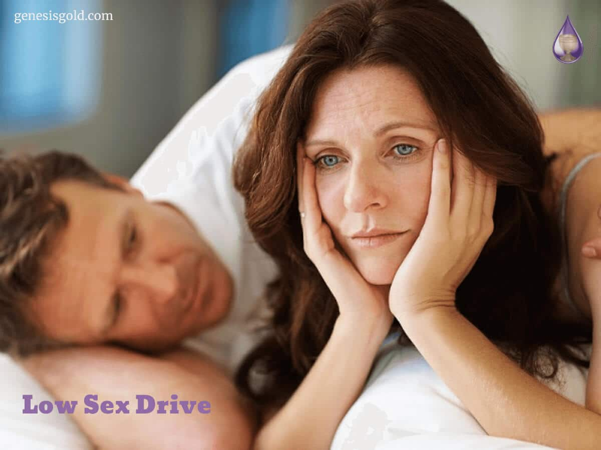 frustrated woman in bed