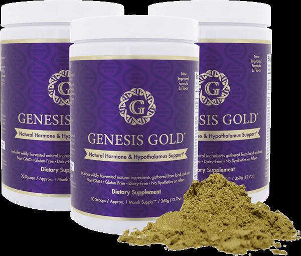 Genesis Gold Natural Hormone & Hypothalamus Supplement with powder