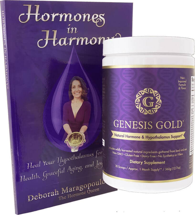 Genesis Gold Bottle and Hormones in Harmony Book