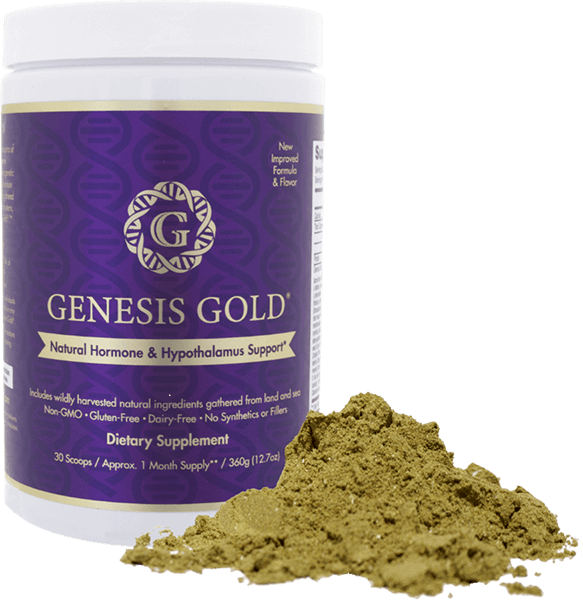 Genesis Gold Natural Hormone & Hypothalamus Supplement with powder